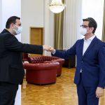 THP Genel Başkanı Enes İbrahim Cumhurbaşkanı Pendarovski'yi Ziyaret Etti